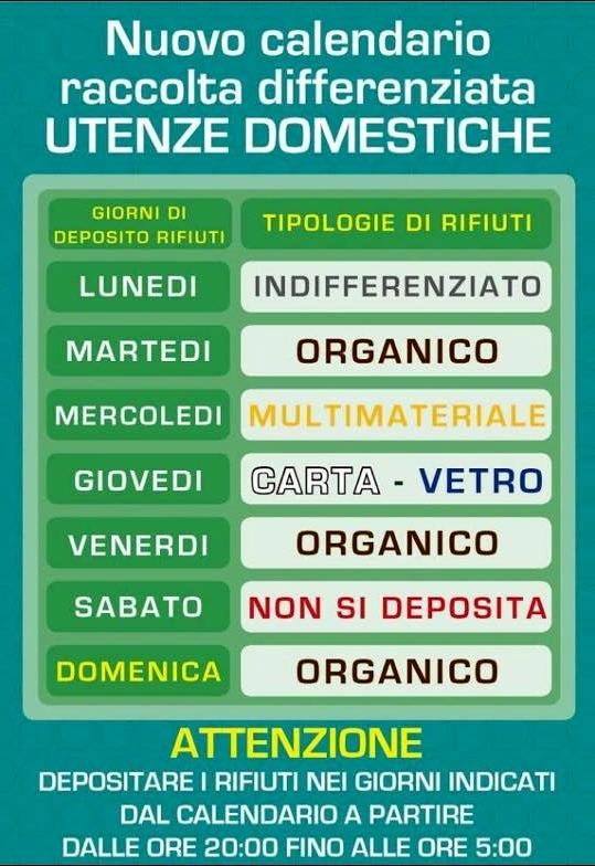 Calendario Raccolta Differenziata Napoli.Differenziata A Mugnano Le Novita Nuovo Calendario E Vetro