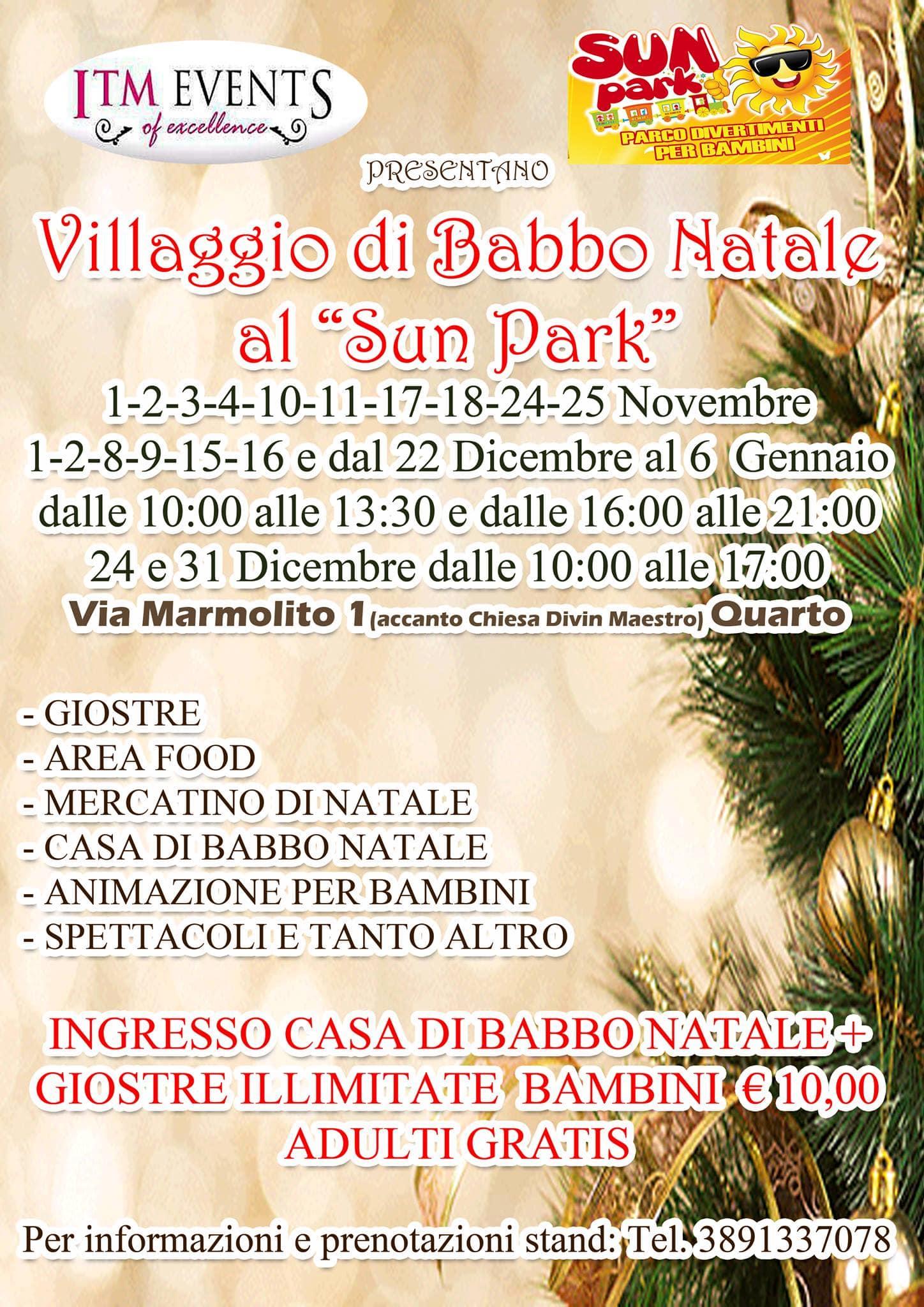 La Casa Di Babbo Natale Napoli.A Quarto Il Villaggio Di Babbo Natale 2018 Eventi A Napoli