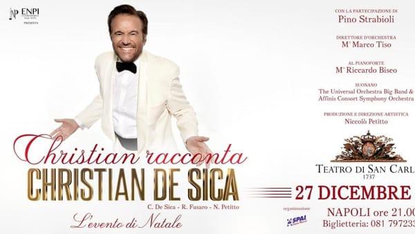 Christian De Sica in scena al Teatro di San Carlo