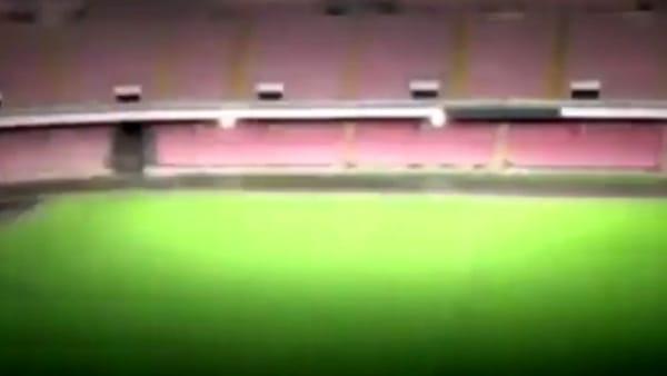 Stadio San Paolo, il nuovo impianto di illuminazione è spettacolare: il video