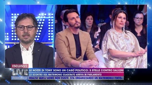 """""""Non è la D'Urso live"""", scontro tra Tony Colombo e Borrelli: accuse di camorria"""
