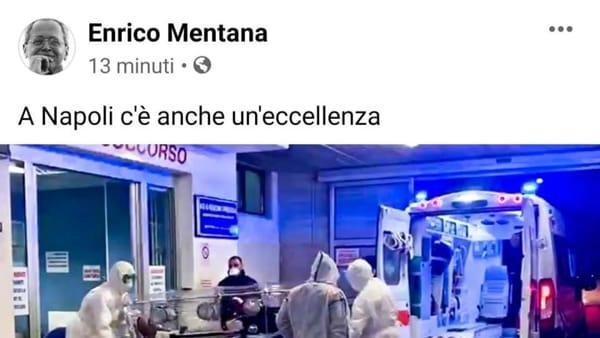 """""""A Napoli c'è anche un'eccellenza"""": il post di Mentana fa indignare i napoletani"""