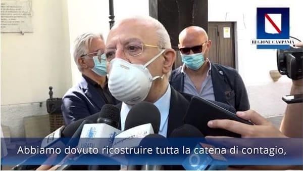 """Coronavirus, De Luca: """"In Campania un contagiato arrivato in Italia in aereo da New York"""""""
