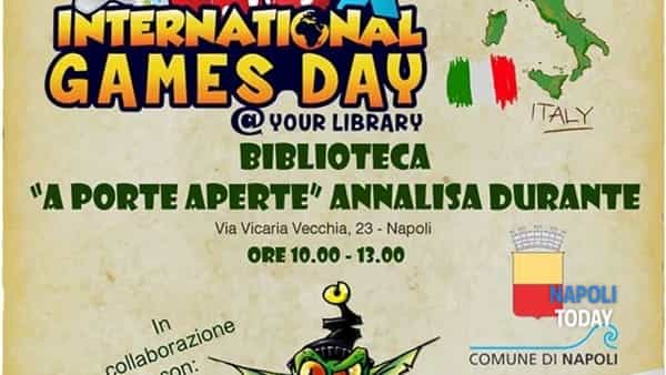"IGD 2016, International Games Day alla biblioteca ""Annalisa Durante"""