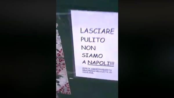 """""""Lasciare pulito, non siamo a Napoli"""": vergogna a Pordenone"""