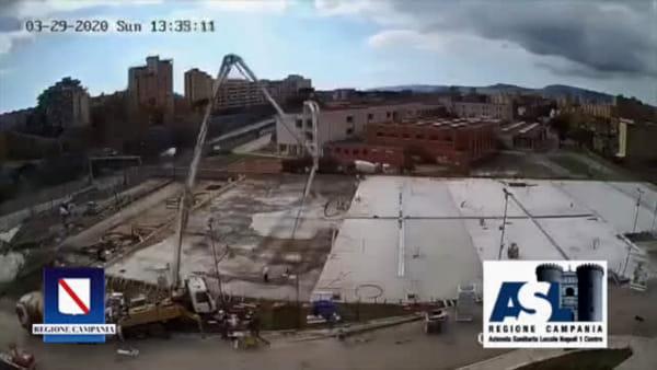 Ospedale del Mare anti Covid: time laps dei lavori|VIDEO