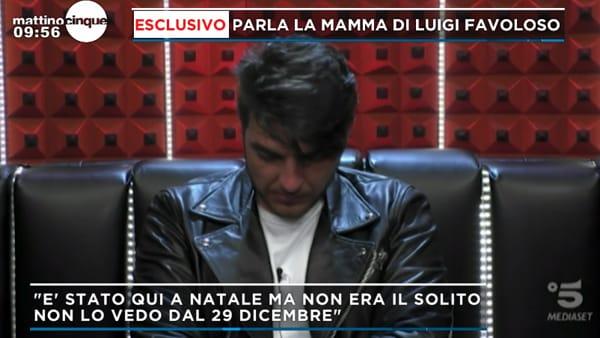 """Scomparsa Luigi Favoloso, parla la madre: """"Era angosciato. Non era lo stesso di sempre"""""""