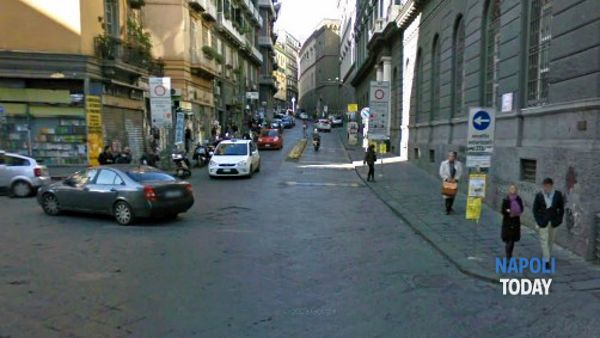 Via Mezzocannone (Google Map)