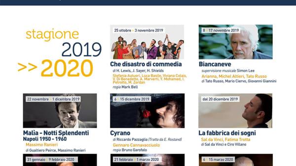 Teatro Augusteo, spettacoli e concerti della stagione 2019/2020