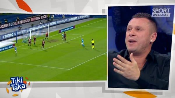 """Cassano a Tiki Taka: """"A Napoli situazione di non ritorno"""""""