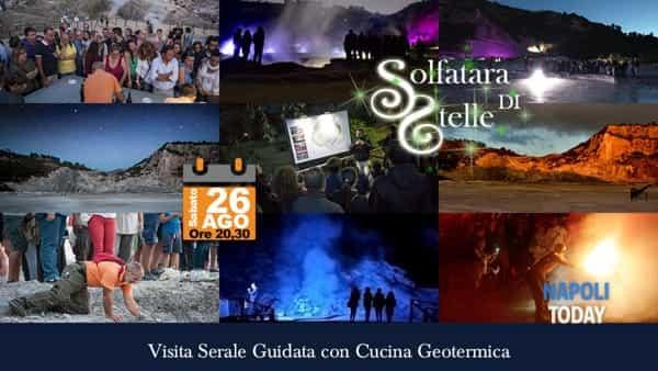 Alla scoperta del vulcano di notte: visita serale e degustazione alla Solfatara