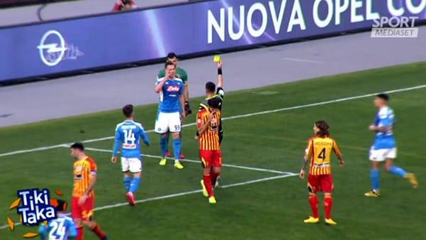 """Napoli-Lecce, la moviola di Cesari: """"Arbitro presuntuoso"""""""