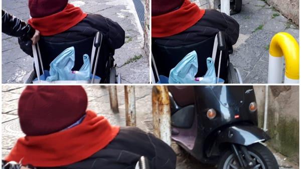 Motociclisti incivili impediscono il passaggio agli invalidi