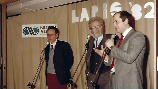 TTC Club, 1982, Gennaro Capodanno con Luciano De Crescenzo e Paolo Del Vaglio-3