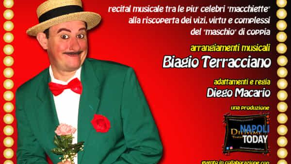 """Spettacolo """"Musica Ammore e Ccorne"""" di Diego Macario al Club 55"""