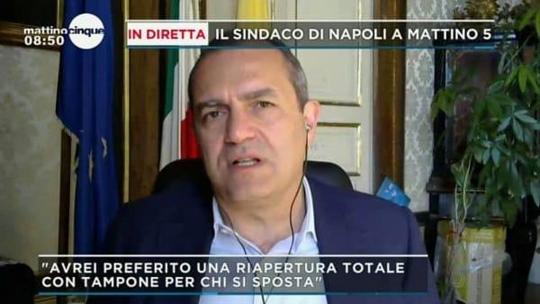 """Mobilità tra Regioni, de Magistris: """"Una cautela in più per Lombardia e Piemonte la manterrei"""""""