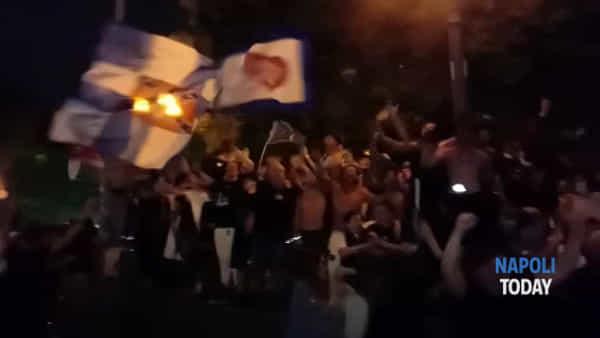 Festa al Vomero per il trionfo del Napoli in Coppa Italia|VIDEO