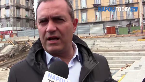 """Piazza Nazionale, de Magistris: """"A Napoli nessuna emergenza. Prego per Noemi"""""""