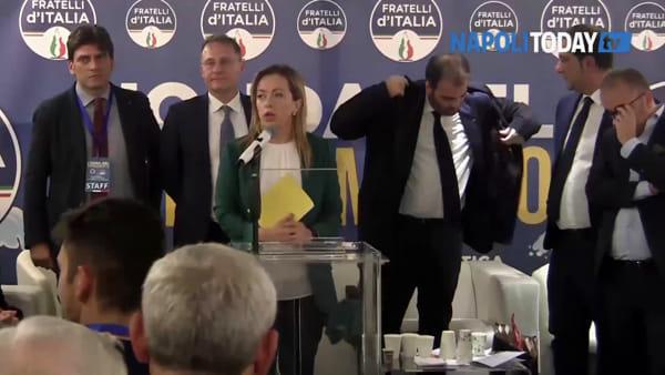 """Giorgia Meloni: """"A Napoli per prenderci Regione e Comune"""""""