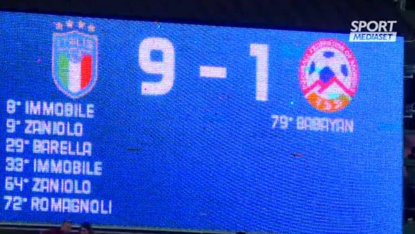 Italia-Armenia 9-1: esordio per Meret, 90' in campo per Di Lorenzo | VIDEO