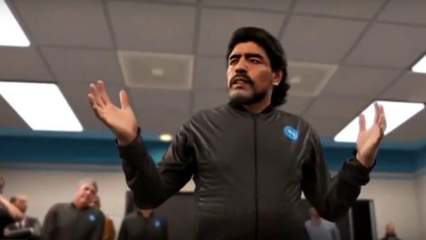 Pes 2020: Maradona allenatore del Napoli, il suo discorso è da brividi | VIDEO