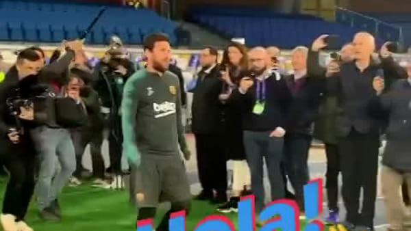 Messi entra nello stadio di Maradona: le prime immagini (VIDEO)