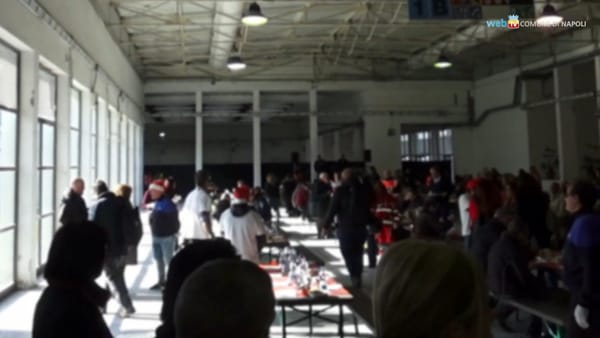 Pranzo sociale alla Mostra per centinaia di clochard