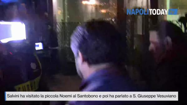 "Salvini: ""Ho visto Noemi, preghiamo per lei"""