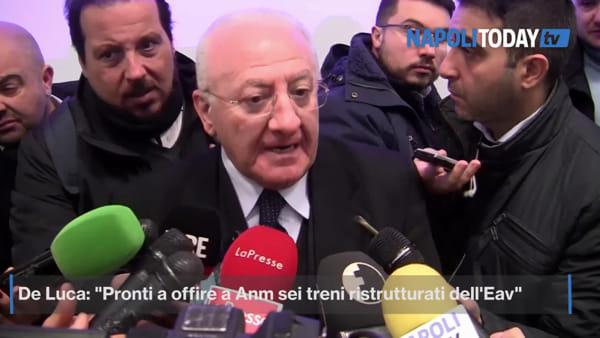 """Incidente Metro Linea 1, De Luca: """"Pronti a offrire sei treni dell'Eav"""""""