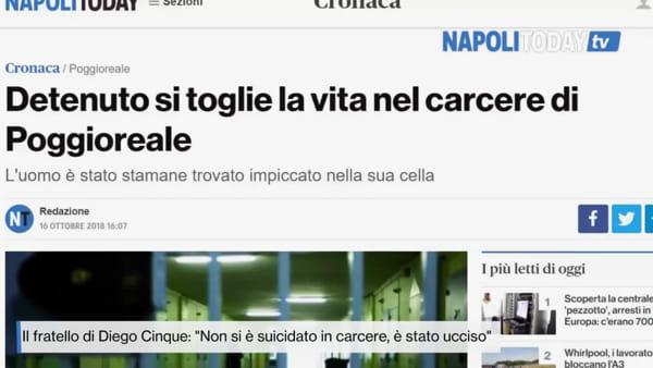 """Suicidio sospetto in carcere, il fratello: """"E' stato ammazzato"""""""