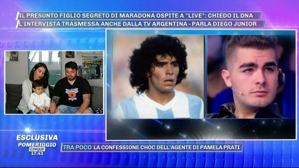 """Presunto figlio segreto di Maradona, parla Diego Jr: """"Giusto fare test Dna"""""""