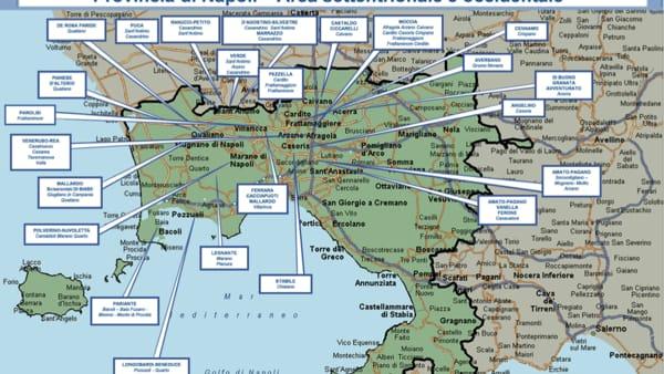 Cartina Vomero Napoli.La Mappa Della Camorra In Provincia Di Napoli Tutti I Clan