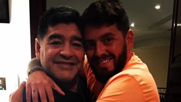 Maradona e Diego Junior