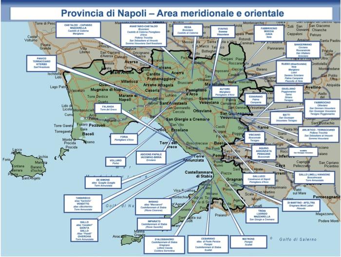 Provincia Di Napoli Cartina.La Mappa Della Camorra In Provincia Di Napoli Tutti I Clan